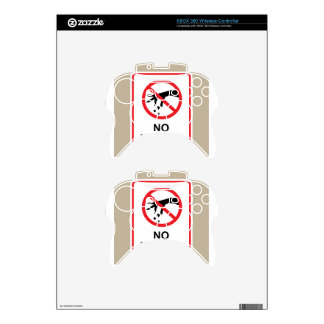 No littering sign Hand gesture red black Xbox 360 Controller Decal