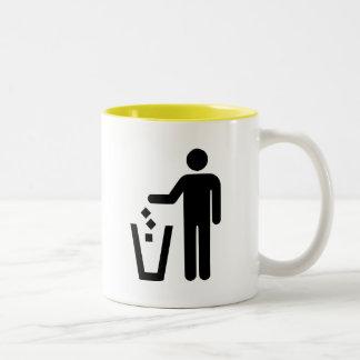 No Littering Two-Tone Coffee Mug