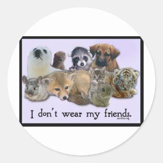 No llevo a mis amigos pegatina redonda