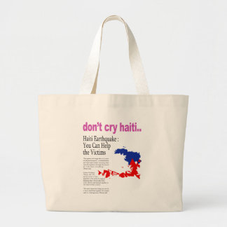 No llora Haití, ayuda Haití Bolsas De Mano