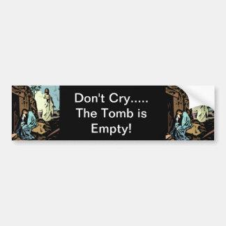 No llora, la tumba está vacía - celebre Pascua Pegatina Para Auto