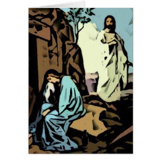 No llora, la tumba está vacía tarjeta de felicitación