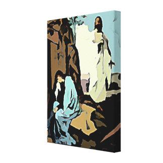 ¡No llora Maria su tumba está vacía Lona Envuelta Para Galerias