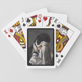 No llore para mí, arte original cartas de póquer