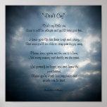 No llore….Poster del poema