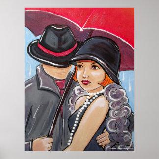 No llueva en mi desfile - aleta de los años 20 póster