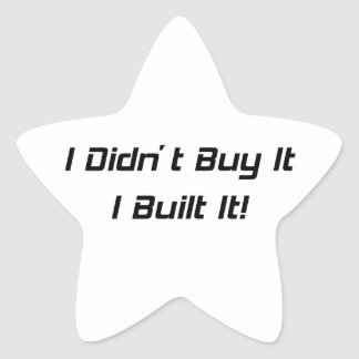 No lo compré que lo construí colcomanias forma de estrellaes personalizadas