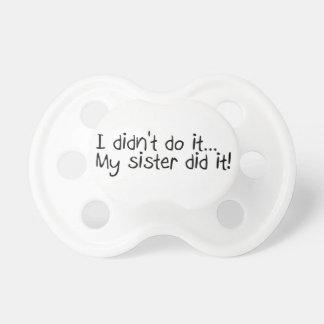 No lo hice que mi hermana lo hizo chupetes de bebé