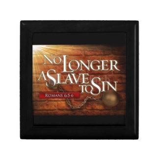 No Longer a Slave to Sin Keepsake Box