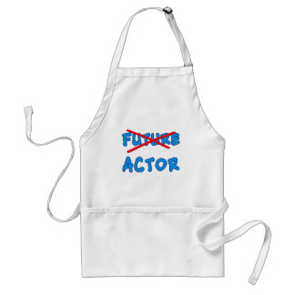No Longer Future Actor Gift for Acting School Grad Adult Apron