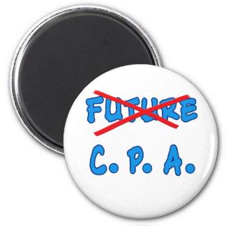 No Longer Future CPA Graduation Design 2 Inch Round Magnet