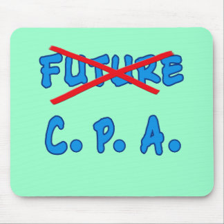 No Longer Future CPA Graduation Design Mouse Pad