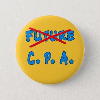 No Longer Future CPA Graduation Design Pinback Button