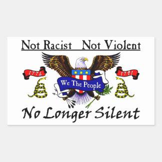 No Longer Silent! Rectangular Sticker