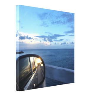 No Looking Back Canvas Print Sunset and Ocean