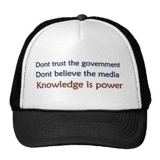 No los confíe en gorras de camionero