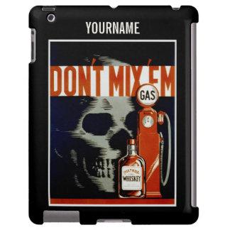 """""""No los mezcle"""" los casos de encargo del monograma Funda Para iPad"""