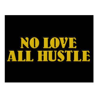 No Love, All Hustle Golden Design Postcard