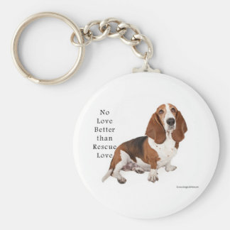 No Love Better than Rescue Love Basic Round Button Keychain