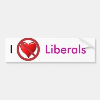 No Love for Liberals Bumper Sticker Car Bumper Sticker