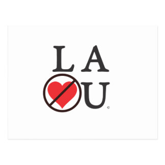 No Love LA Postcard