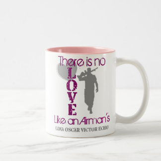 No Love like an Airman's Two-Tone Coffee Mug