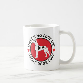 No Love Like Great Dane Love-Harlequin Mug
