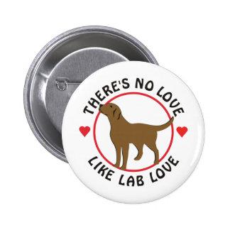 No Love Like Lab Love-Chocolate Pinback Button