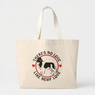 No Love Like Newf Love-Landseer Canvas Bags