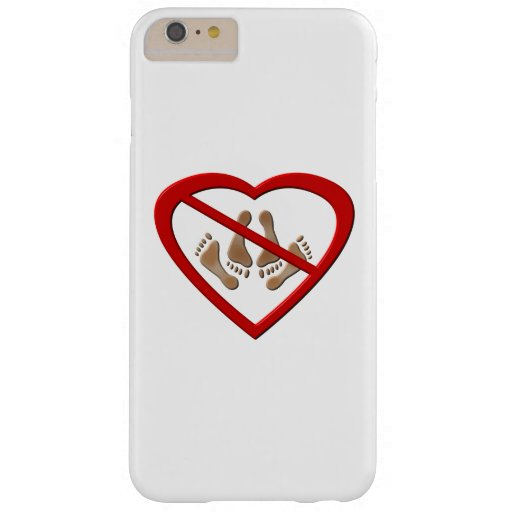 No Love Making Feet Sign iPhone 6/6S Plus Case