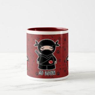 No Love! Ninja With Rice Bowl Mug