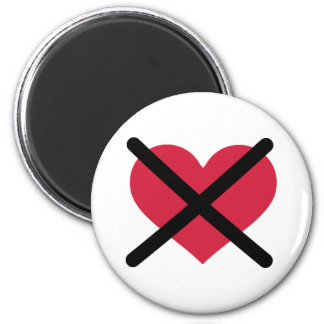No love red heart refrigerator magnets