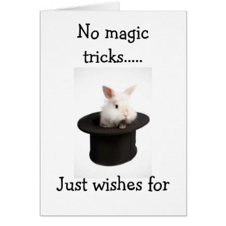 NO MAGIC TRICKS JUST COOL16th BIRTHDAY WISHES Cards