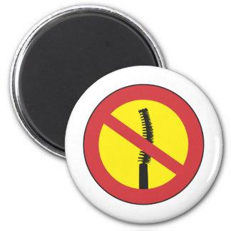 No Makeup Keychain 2 2 Inch Round Magnet
