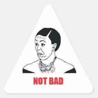 No malo - Michelle Obama Pegatina Triangular