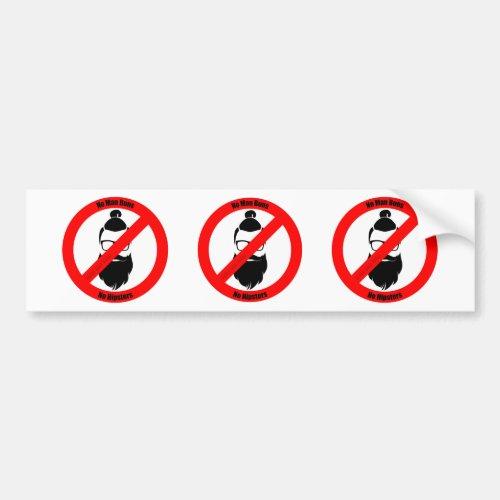 No Man Buns No Hipsters Bumper Sticker