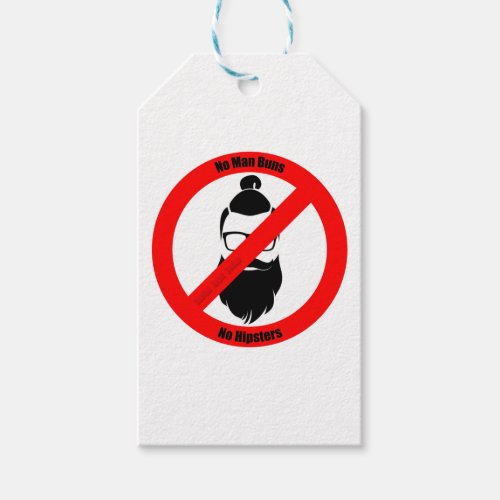 No Man Buns No Hipsters Gift Tags