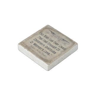 No Man Has Ever Lived Stone Magnet
