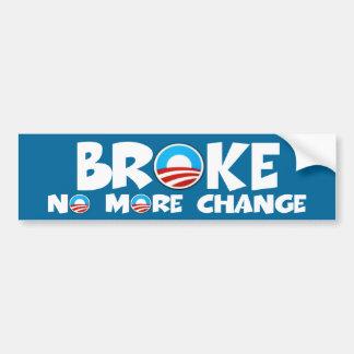 No más cambian a Obama anti Pegatina De Parachoque