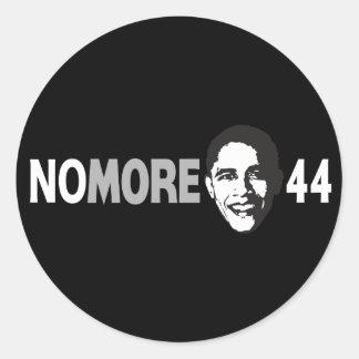NO MÁS de 44 - Obama anti Pegatina Redonda