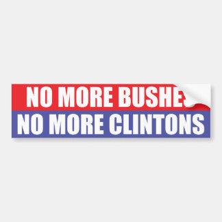 No más de arbustos, no más de Clintons Pegatina Para Auto