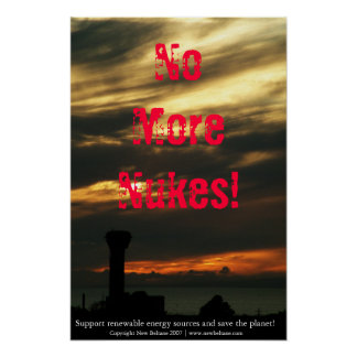 ¡No más de armas nucleares! Póster