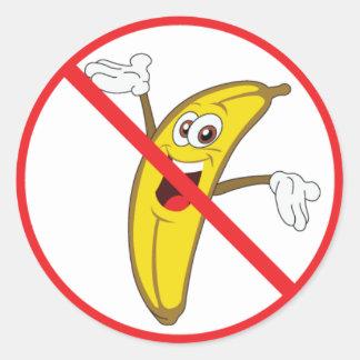 ¡No más de Bananaheads desorientado! Pegatina Redonda