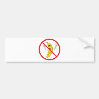 ¡No más de Bananaheads gritador! Pegatina De Parachoque