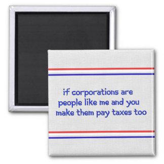 No más de bienestar corporativo imán cuadrado