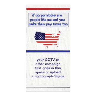 No más de bienestar corporativo tarjetas con fotos personalizadas
