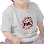 No más de desalojos urgentes camisetas