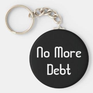 No más de deuda llavero redondo tipo pin