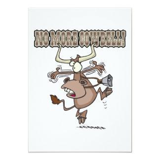 no más de dibujo animado loco divertido de la vaca invitación personalizada