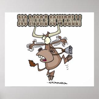 no más de dibujo animado loco divertido de la vaca posters